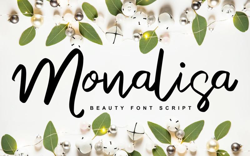 Monalisa | Police manuscrite de script de beauté