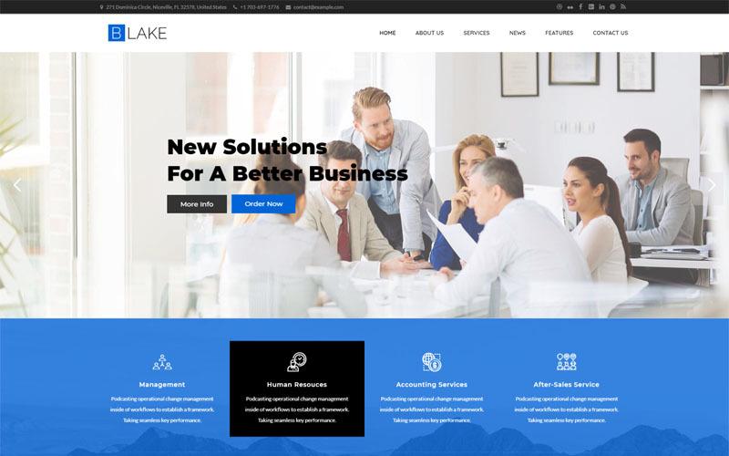 Тема WordPress для бизнес-услуг Blake