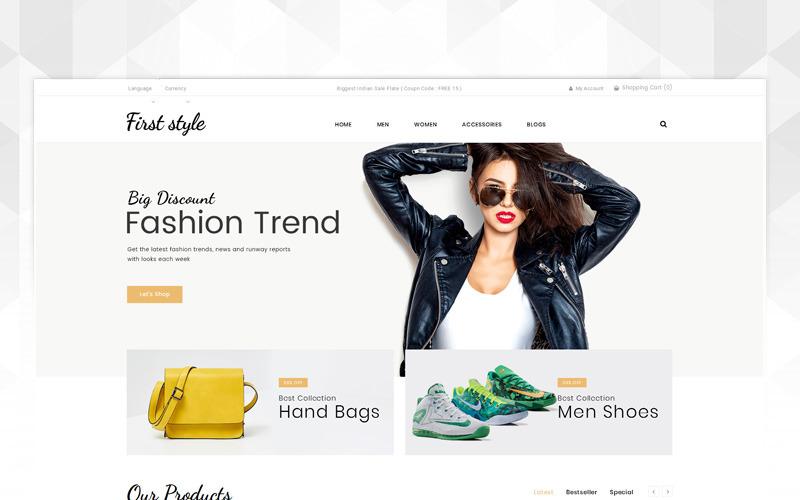 První styl - šablona OpenCart módního obchodu
