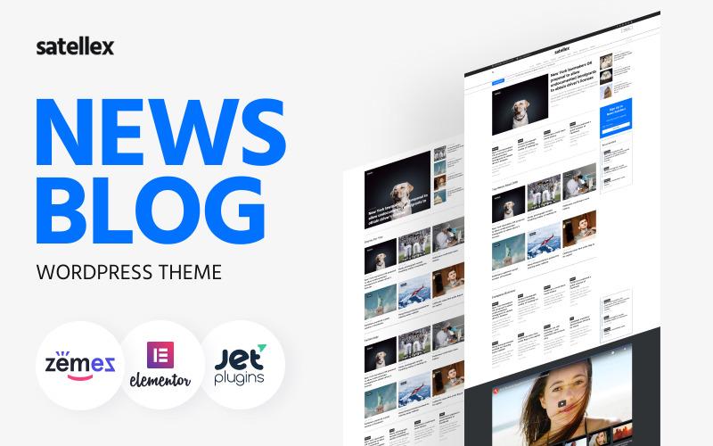 Satellex - News Blog Uniwersalny klasyczny motyw WordPress