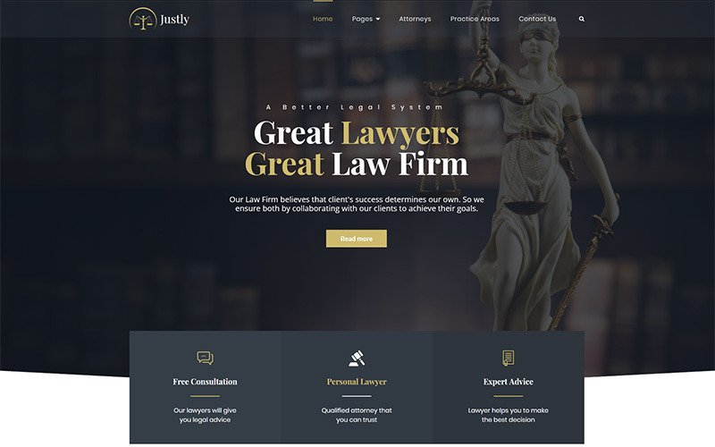 Justly - Lawyer and Attorney WordPress Theme