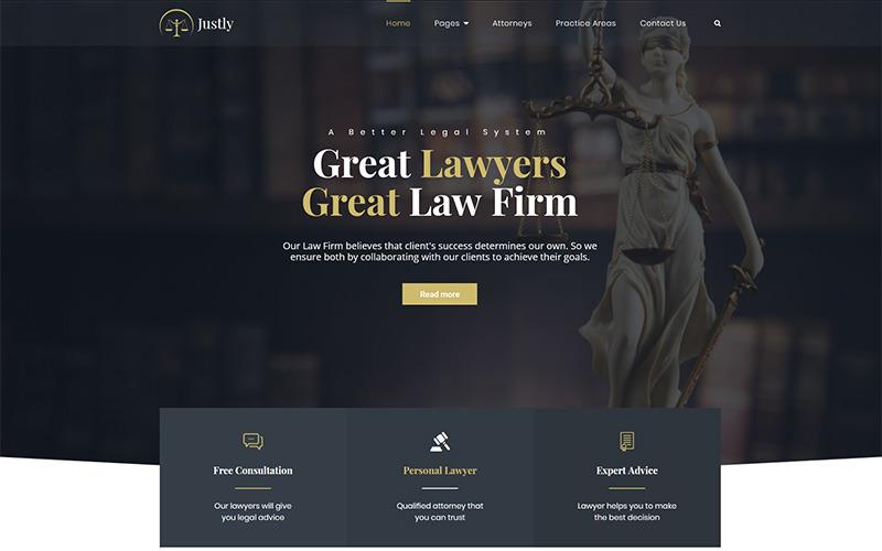 Justly - Tema WordPress per avvocato e avvocato