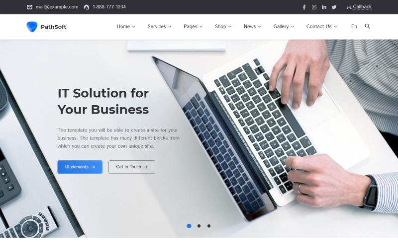 PathSoft - Çok Amaçlı İş ve Hizmetler | E-ticaret HTML Web Sitesi Şablonu