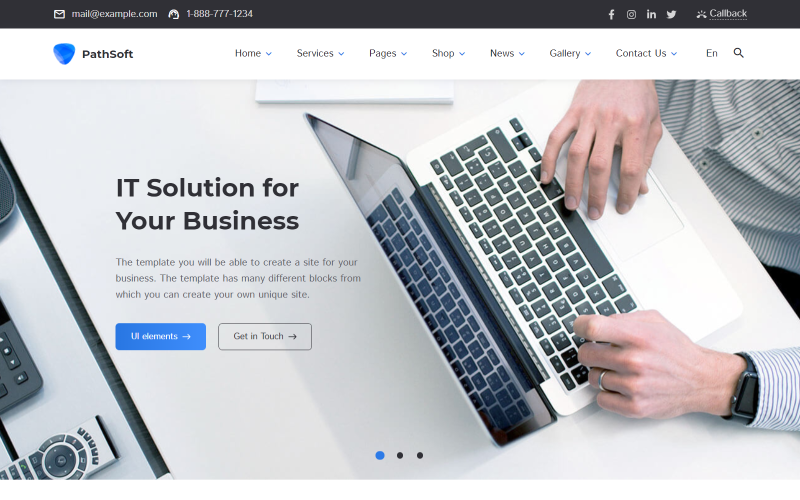 PathSoft - Multipurpose Business & Services | Ecommerce HTML Website Template