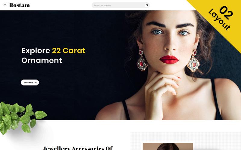 Ростам - OpenCart шаблон для ювелирного магазина