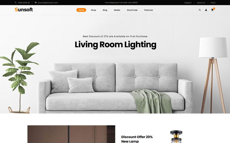 Sunsoft - Világítás WooCommerce téma