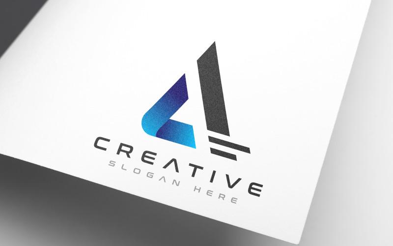 Marca creativa A - Plantilla de logotipo de letra