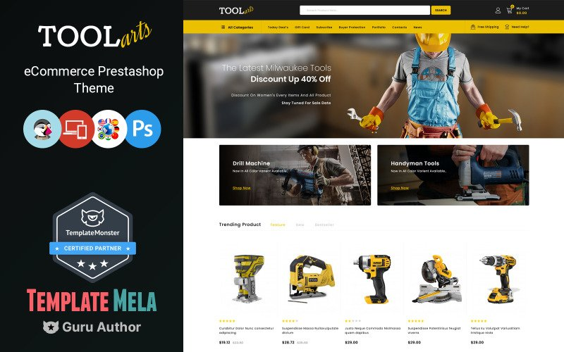 ToolsArts - Power Tools Store PrestaShop Theme