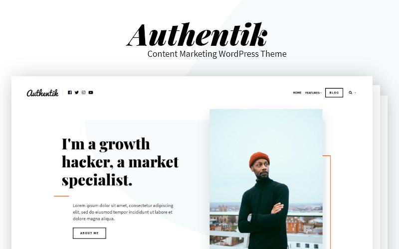 Authentik - Blog & Content Marketing WordPress Theme