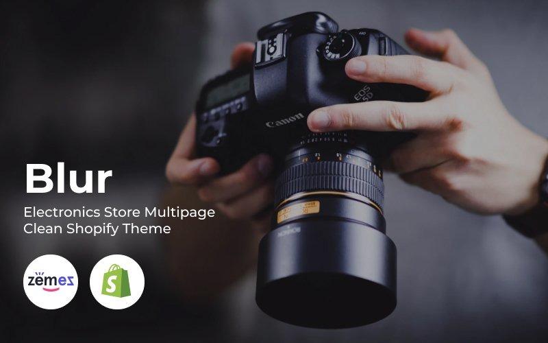Blur - Thème Shopify Clean Multipage pour magasin d'électronique