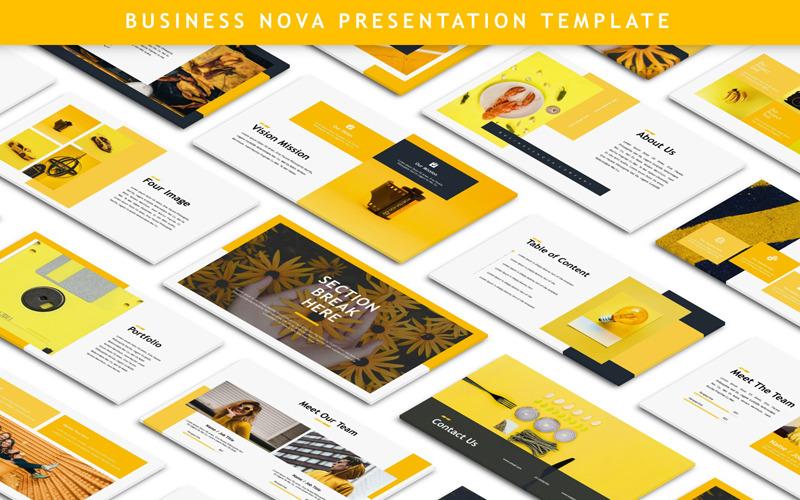 Business Nova - Sunum PowerPoint şablonu