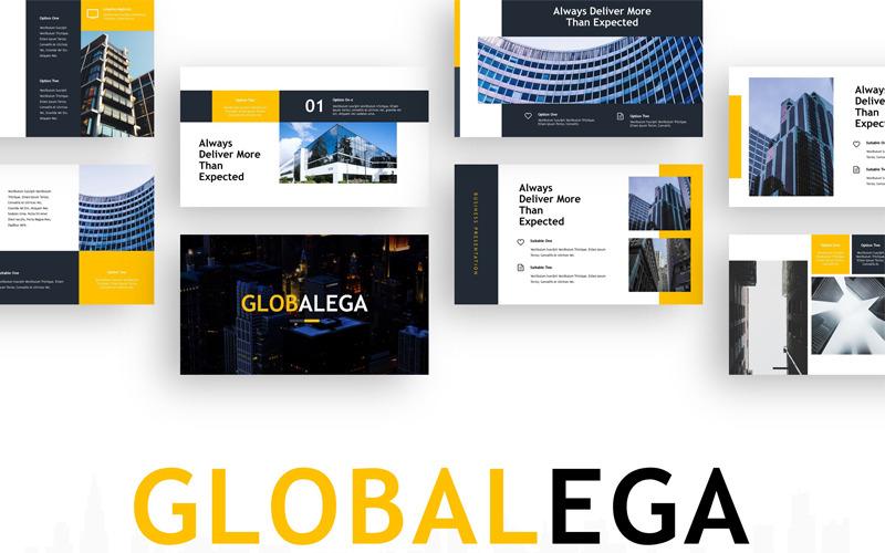 Globalega - Modèle PowerPoint de bâtiment créatif