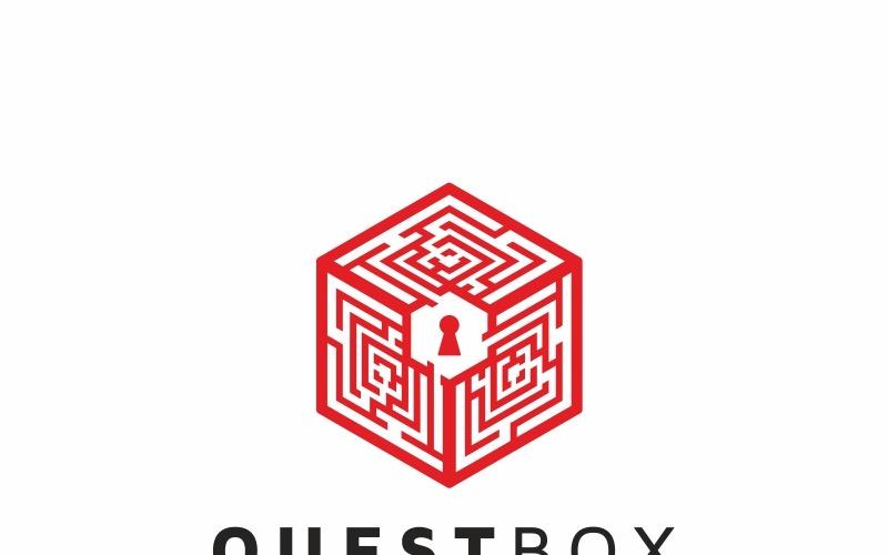 Шаблон логотипа лабиринт