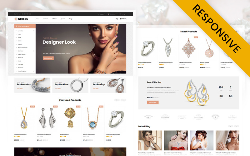 Shiels - Jewelry Store OpenCart Template
