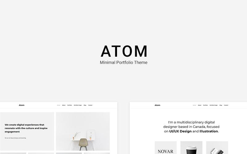 Atom - Minimal Portfolio Motyw WordPress