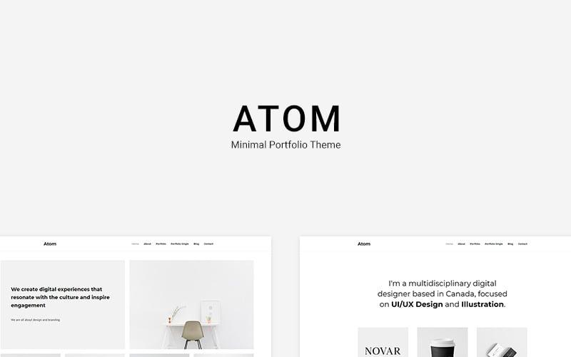 Atom - Tema WordPress per portfolio minimo