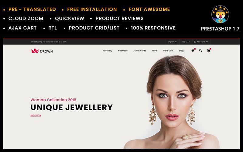 Crown Smyckenbutik PrestaShop-tema