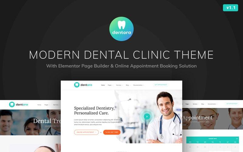Dentora - Dental Clinic WordPress Elementor Theme
