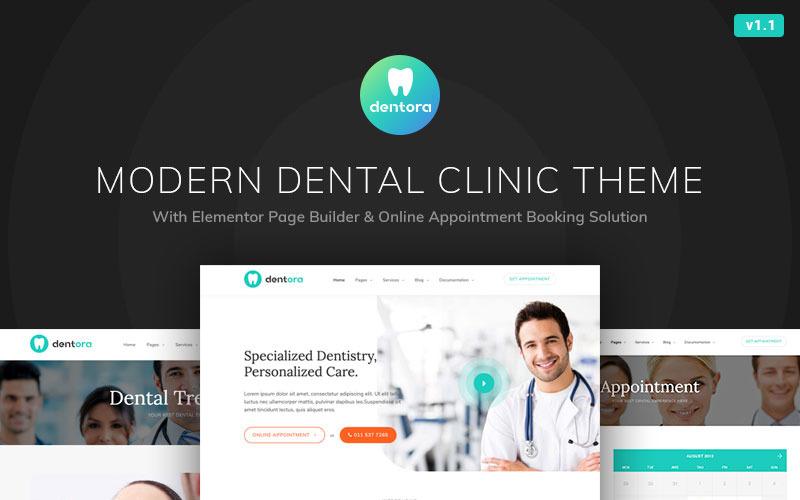 Dentora - тема WordPress для стоматологической клиники Elementor