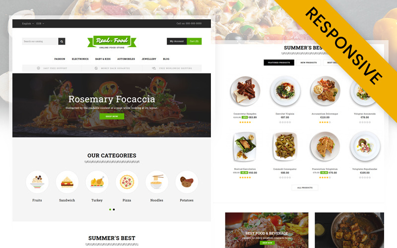 Real Food - Restaurant Store PrestaShop Theme