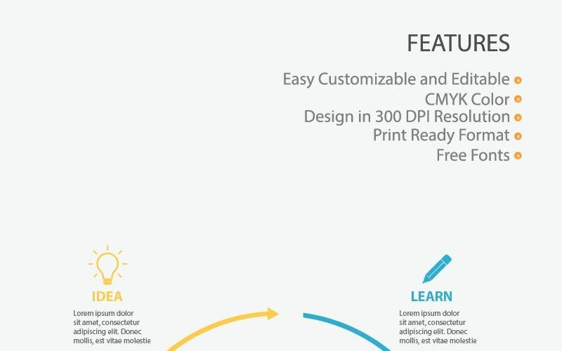 Elementi di infografica educazione creativa