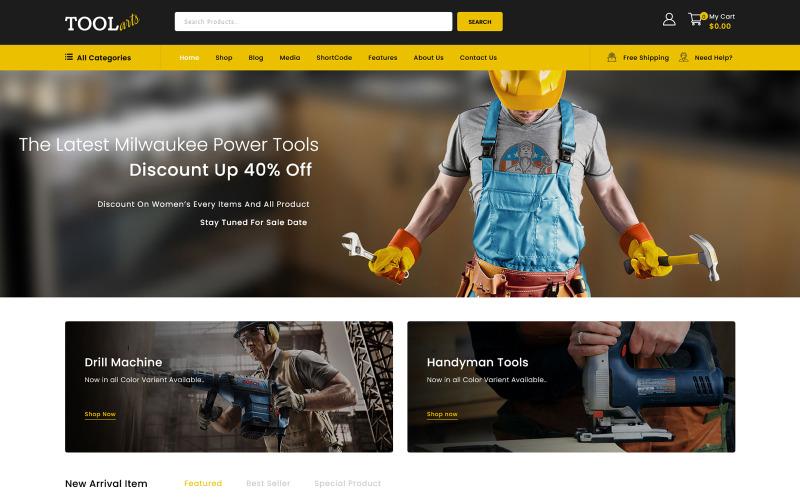 ToolArt - Elektrisch gereedschap WooCommerce-thema