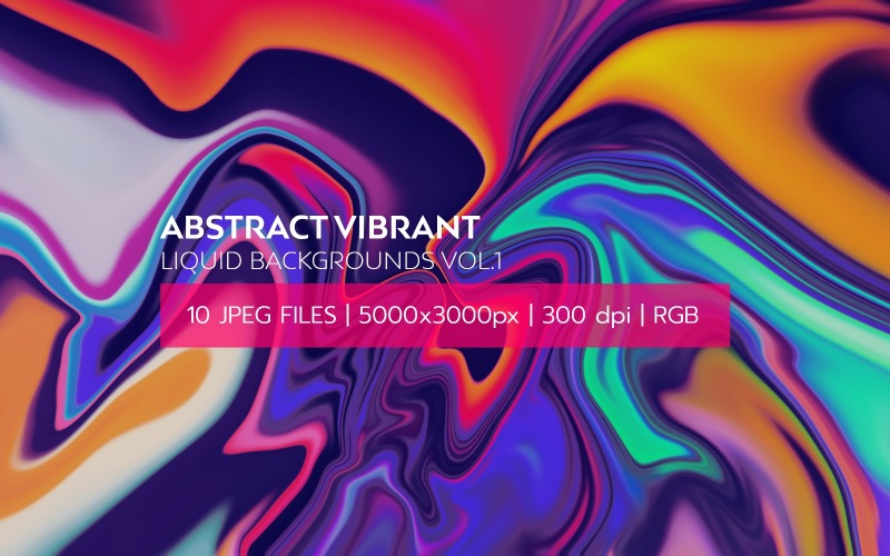 Abstrakt Vibrant Liquid s Vol.1 Bakgrund