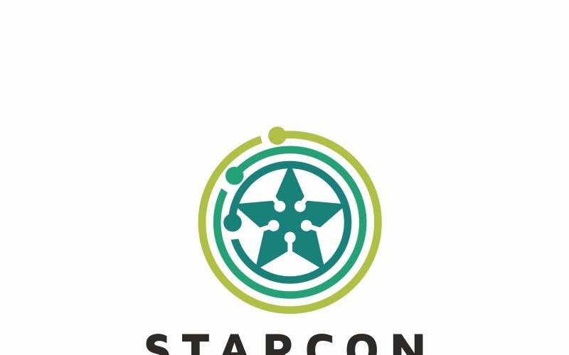 Modello di logo di collegamento a stella