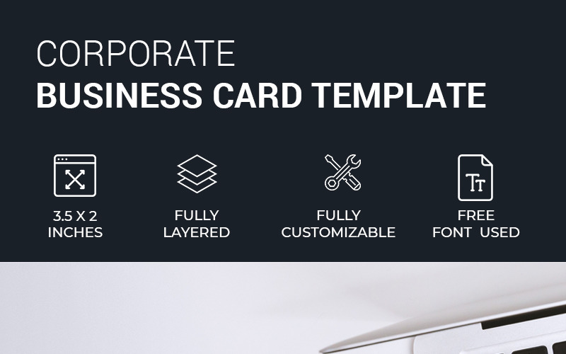 Black & White Minimal Business Card - Corporate Identity Template