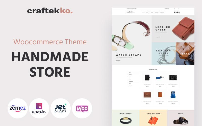 Craftekko - тема WooCommerce для чистых элементов электронной коммерции ручной работы