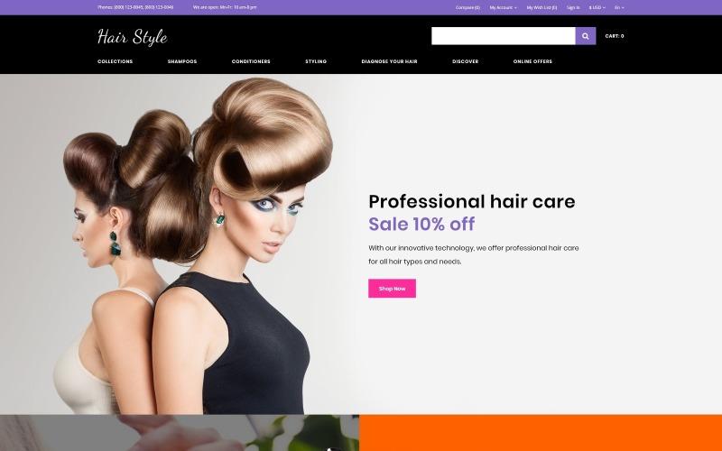 Hair Style - kosmetický obchod, vícestránková kreativní šablona OpenCart