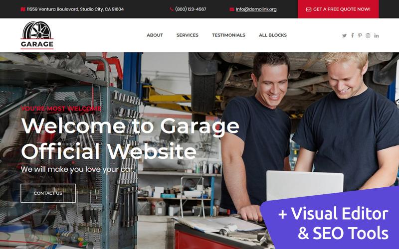 Araba Garajı Açılış Sayfası Şablonu
