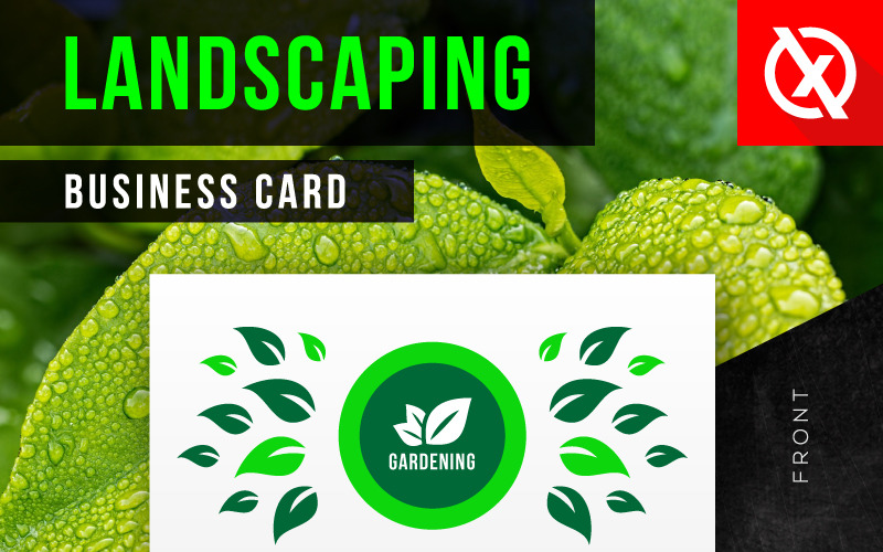 Creative Landscaping Business Card Corporate Identity Template 84469