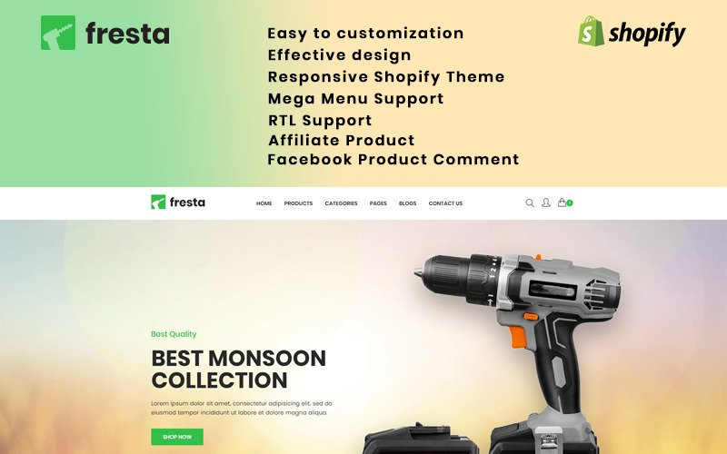 Fresta - Grinder Tools Shopify Theme