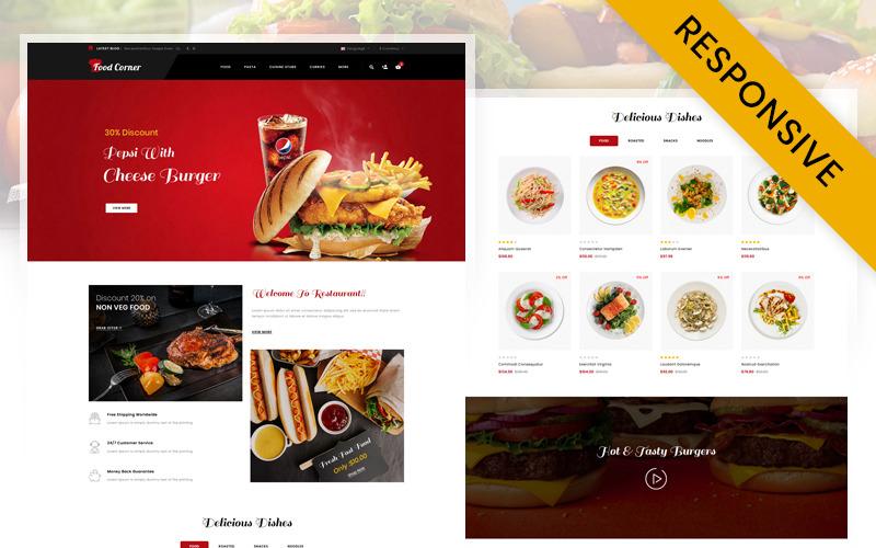 FoodCorner - Restaurant Store OpenCart Template