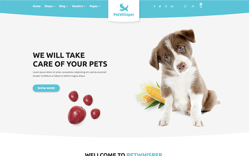 Pets store RTL WordPress Theme WooCommerce Theme