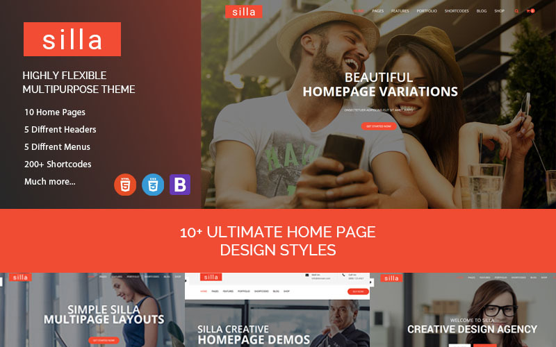 Silla - Responsive HTML5 Business Website Template