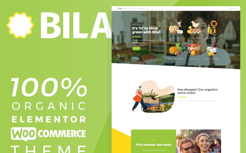Bila - Tema orgánico de WooCommerce de Elementor