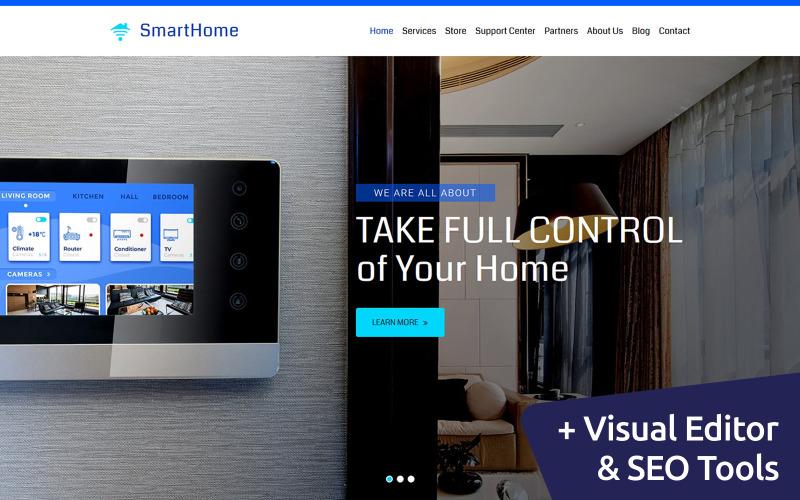 Шаблон Smart Home Moto CMS 3