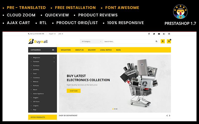 Tema da PrestaShop para pequenas lojas multiuso