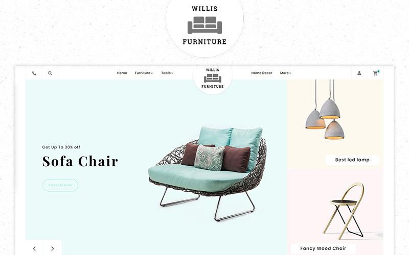 Willis Furniture Responsive Premium Store Tema de PrestaShop