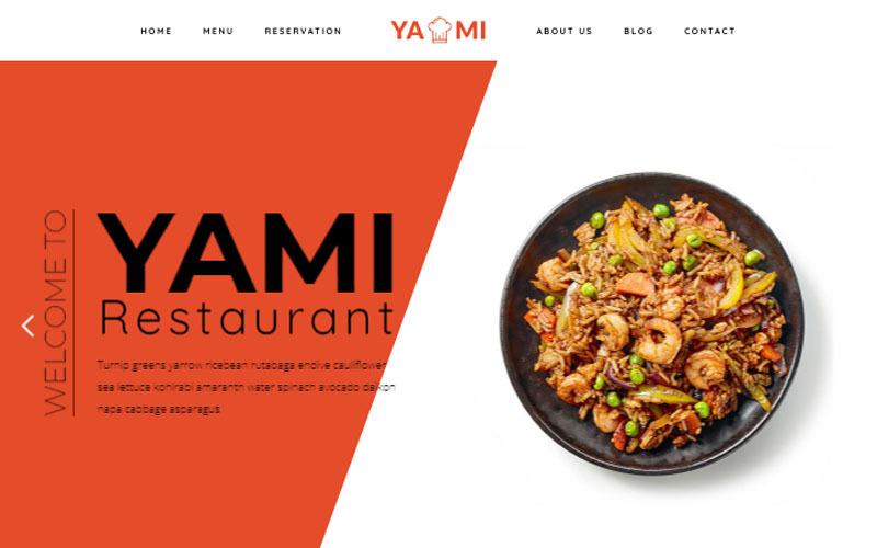 Yami - тема WordPress для продуктов питания и ресторанов