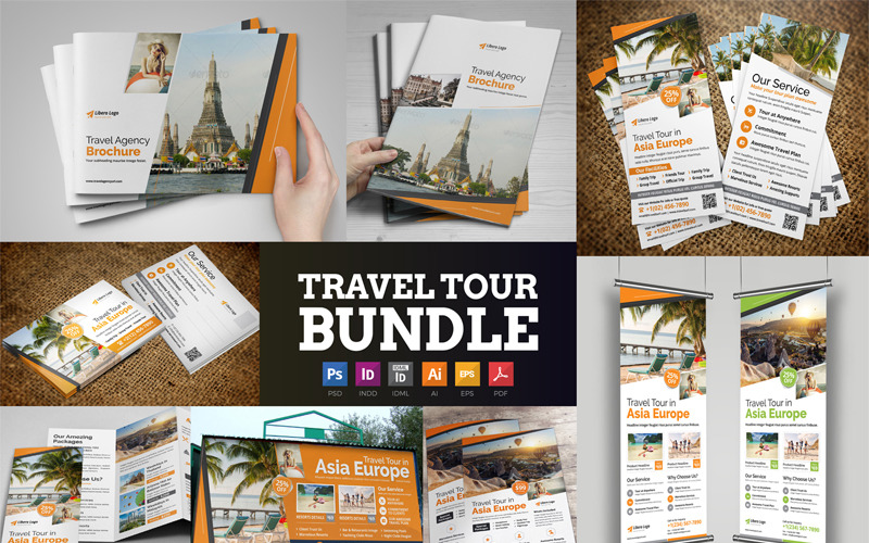 Zeco - Туристический набор - Шаблон фирменного стиля