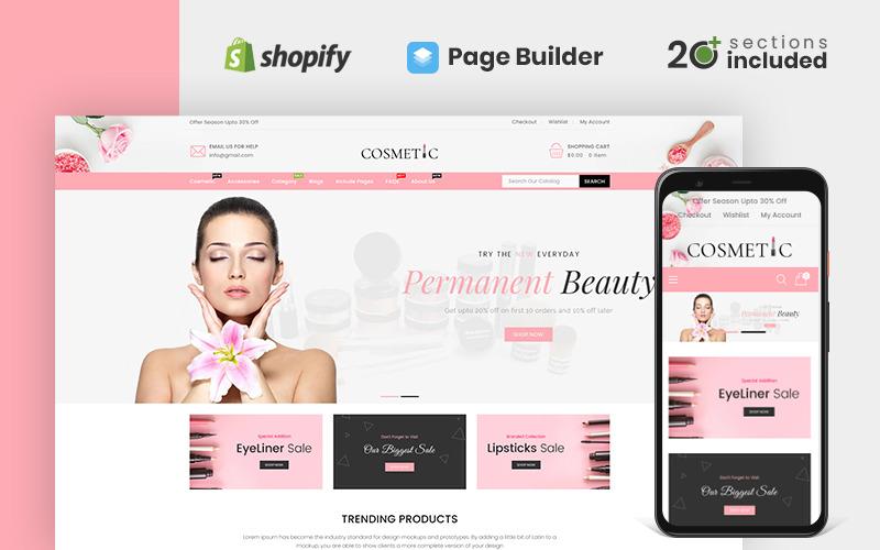Cosmetics Store Shopify Teması