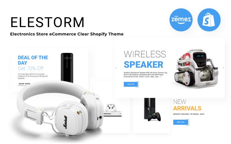 Elestorm - Electronics Store eCommerce Clear Shopify Theme
