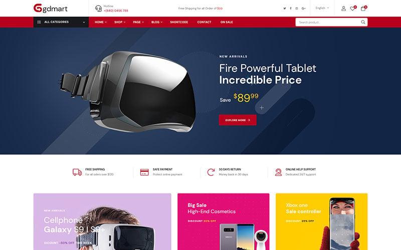 Gdmart - Supermarket Online WooCommerce Theme