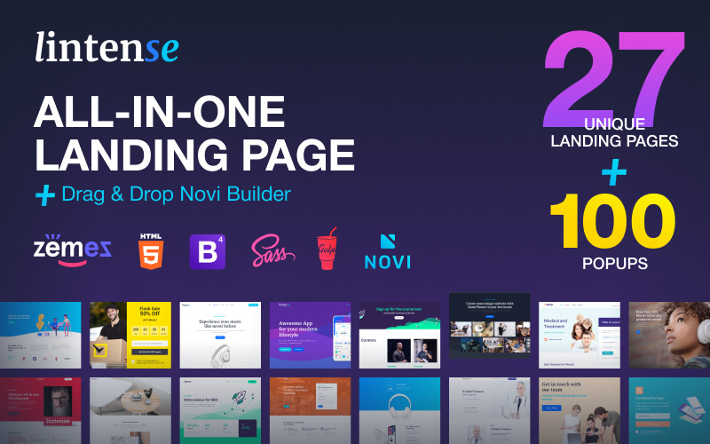 Lintense - All-in-one Landing Page Template