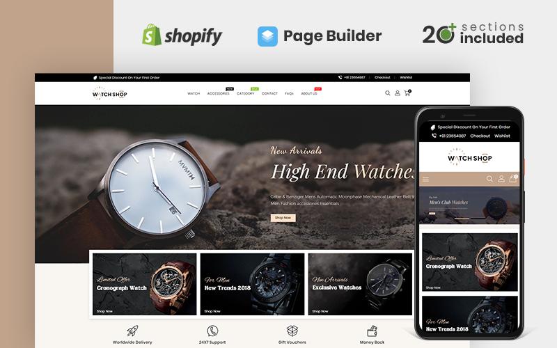 Тема магазину годинників Shopify