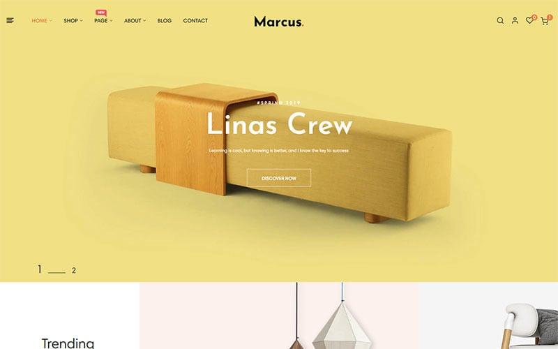 Marcus - PrestaShop šablona Nábytek a bytové dekorace