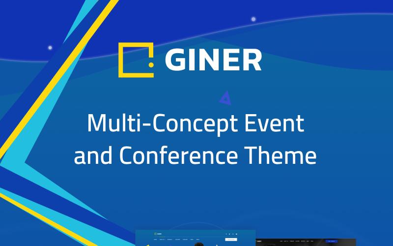 Giner   Motyw WordPress dla wydarzeń z wieloma koncepcjami